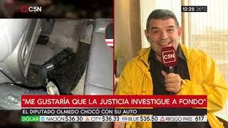 Habla el diputado Alfredo Olmedo tras participar de un choque en el que murió una persona