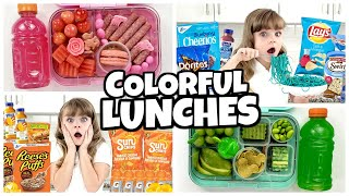 EATING only ONE COLOR LUNCHES for days + making YOUR lunch ideas