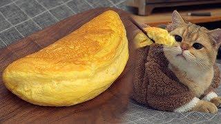 可愛蓬鬆的舒芙蕾歐姆蛋 (免烤箱食譜)