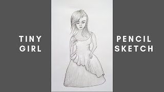 How To Draw A Tiny Girl Pencil Sketch Drawing