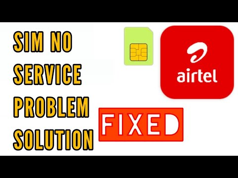 No Service Problem In Airtel Sim Problem Solution || How To Fix Airtel No Service Problem Solved