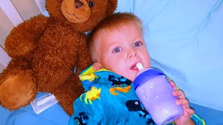 Эльвира и братик НЕ ПОДЕЛИЛИ КРОВАТЬ  Видео для детей от Эльвира и братик