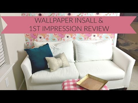 Spoonflower wallpaper installation and first impression review