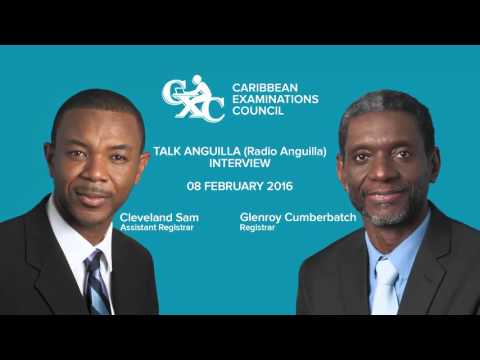CXC interview wtih Talk Anguilla - February 2016