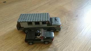 Обзор двух машин из лего легковушки и микро-автобуса