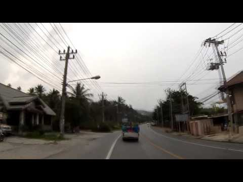 Thailand, Koh Samui, the road from Lamai beach to Chaweng beach