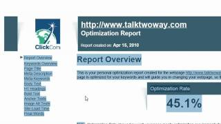 How to optimize your Website, Tutorial on Search Engine Optimization (SEO)