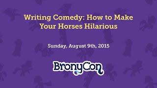 Writing Comedy: How to Make Your Horses Hilarious