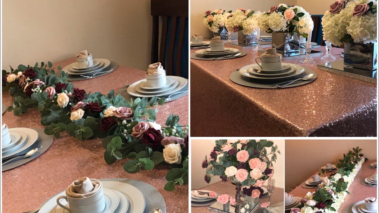 DIY, Table Garland DIY, Table Runner DIY, wedding Decor \u0026 more