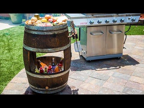 DIY Barrel Grill Cart - Home & Family