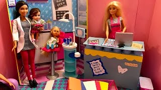 Barbie DENTIST!! Ally SCARED!! MEAN Riley!!