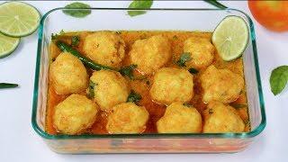 চিংড়ি মাছের কোফতা কারি || Chingri Macher Kofta Recipe Bangla || Shrimp Kofta || Fish Kofta