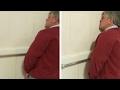 Drunk Man Falls Asleep At The Urinal
