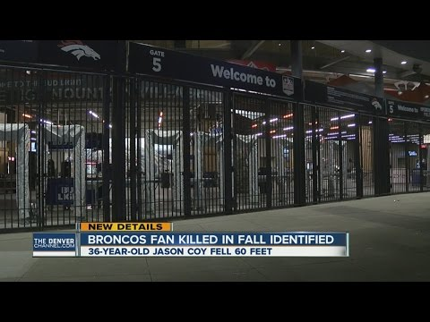 Fan dies after falling 60 feet over railing after Broncos