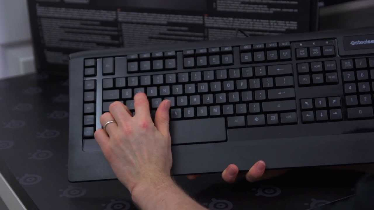 Steelseries Apex [RAW] Gaming Keyboard Unboxing - YouTube