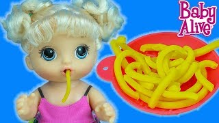 Baby Alive Spagetti Seven Bebeğime Makarna Hazırlıyorum | I Cook My Baby Spaghetti