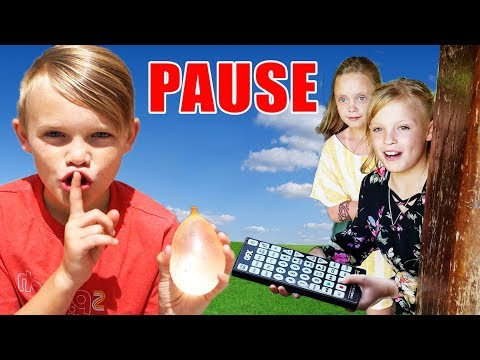 Pause Challenge! Ninja Kidz TV VS Kids Fun TV! Team Up Overseas in Hawaii!