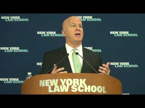 NYPD Commissioner James O'Neill Breakfast Talk at NY Law School