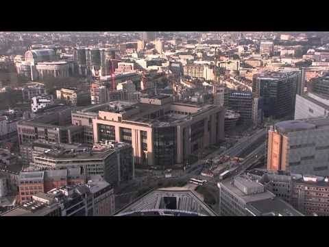EU Council from above - BRUSSELS BELGIUM