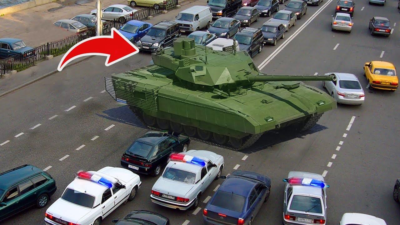شخص يسرق دبابة وسط المدينة.. اغرب السرقات في التاريخ !!