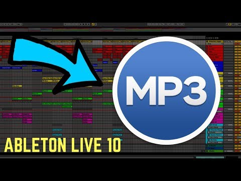 How to Export MP3 from Ableton Live 10 [2020 Tutorial]
