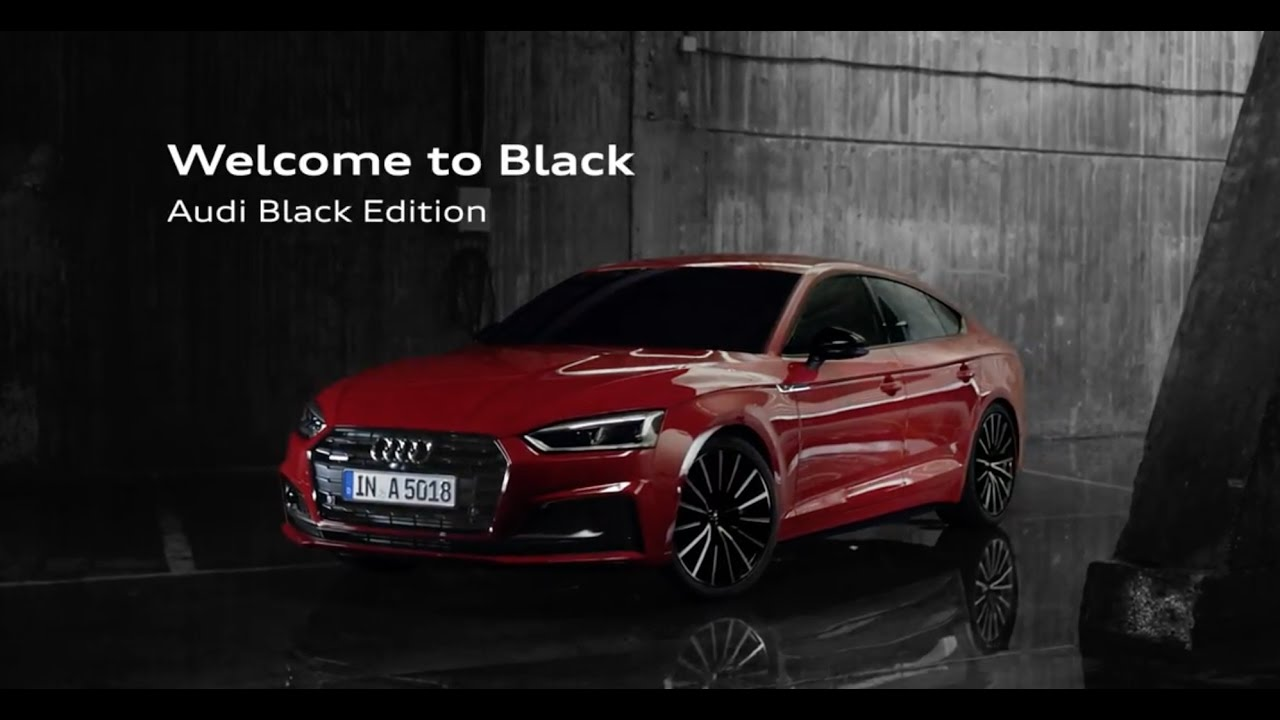 2017 audi a5 sportback black edition youtube. Black Bedroom Furniture Sets. Home Design Ideas