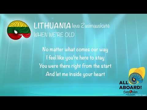 Ieva Zasimauskaité - When We're Old (Lithuania) [Karaoke Version]