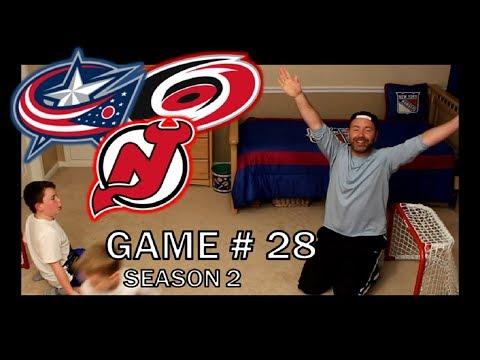 KNEE HOCKEY GAME # 28 - DEVILS / BLUE JACKETS / HURRICANES - SEASON 2 - QUINNBOYSTV