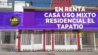 EN RENTA RESIDENCIAL EL TAPATIO, BOSQUE URBANO TLAQUEPAQUE CASA/OFICINAS, GRANDE, CONÓZCALA