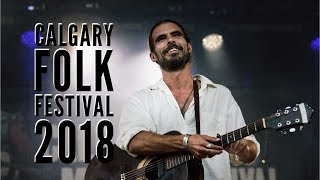 Sights of the 2018 Calgary Folk Festival, set to the music of Reube...