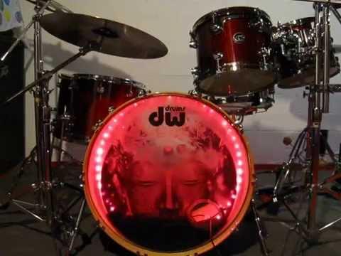 custom bass drum head translucent youtube. Black Bedroom Furniture Sets. Home Design Ideas