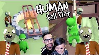 Karim en el Bosque | Zombies en Human Fall Flat | Juegos Karim Juega