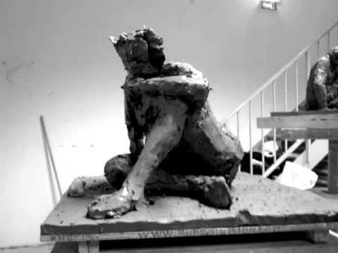 ronde bosse sculpture modelage argile homme assis youtube. Black Bedroom Furniture Sets. Home Design Ideas