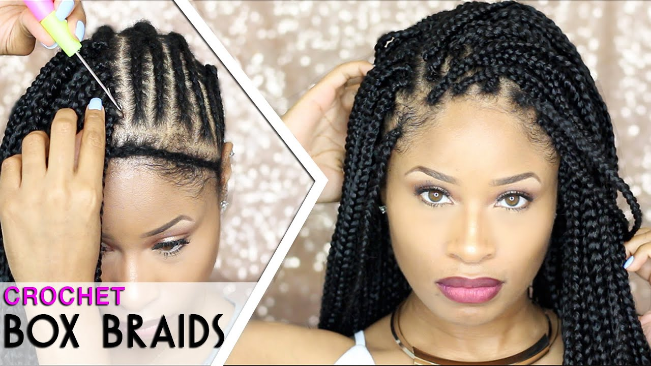 Crochet Braids Tutorial : How To CROCHET BOX BRAIDS ?? (looks like the real thing! free ...