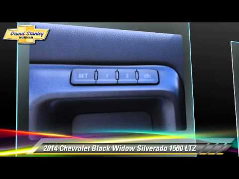 new 2014 chevrolet black widow silverado 1500 ltz norman youtube. Black Bedroom Furniture Sets. Home Design Ideas