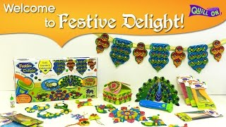Unboxing Festive Delight  Quilling Kit