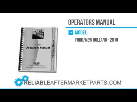 2750 New Ford 2810 3910 Tractor Series Operators Manual