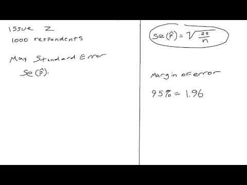 Maximum standard error of the estimate