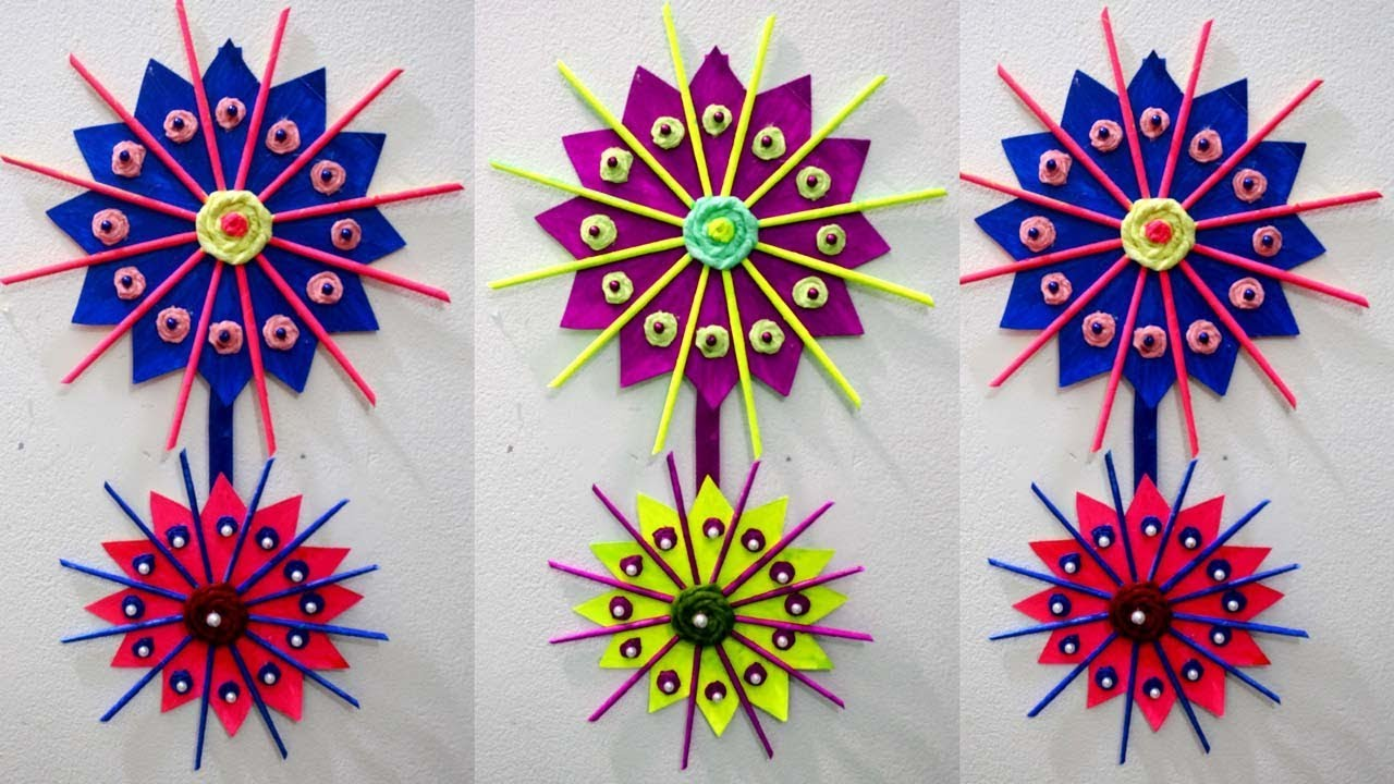 Home Decor Ideas Diy How To Make Wall Hangings With Waste Material