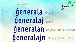 ĜENERALA adjetivo em Esperanto