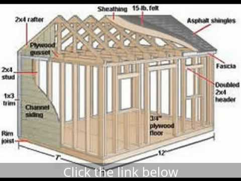 Garage plans free shed plans youtube for Free barn blueprints
