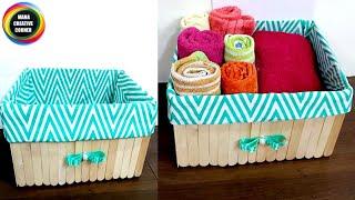 How to turn a cardboard box into beautiful storage basket easily#DIYCardboard storage box#storagebox