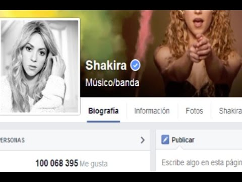 Shakira, 100 millones de seguidores en Facebook
