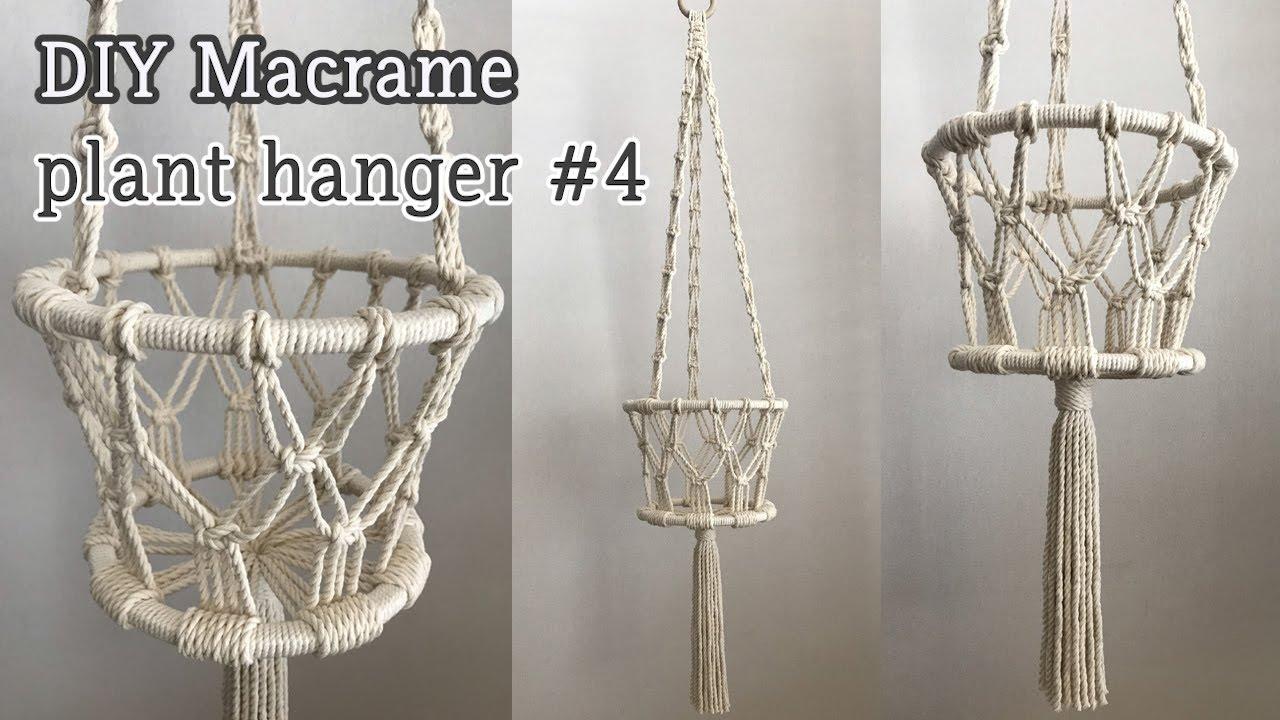 Eng Sub Diy Macrame Plant Hanger 4 마크라메 플랜트행거 4
