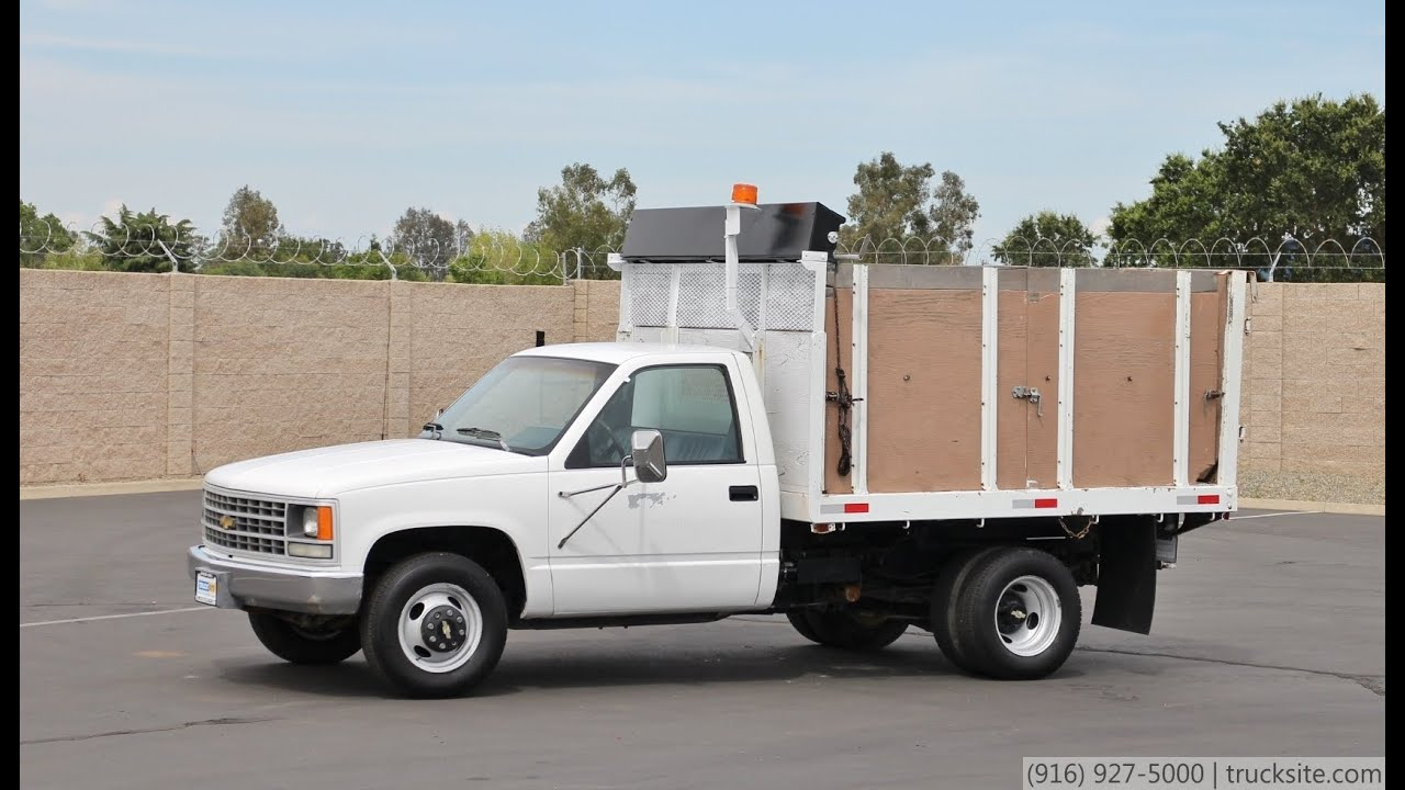 All Chevy 1991 chevy 3500 : 1991 Chevrolet C3500 9' Flatbed Dump Truck for sale - YouTube
