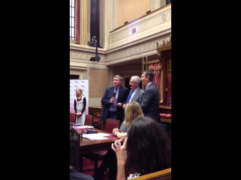 Mervyn Storey, Danny Kennedy & Edwin Poots sing Amazing Gra