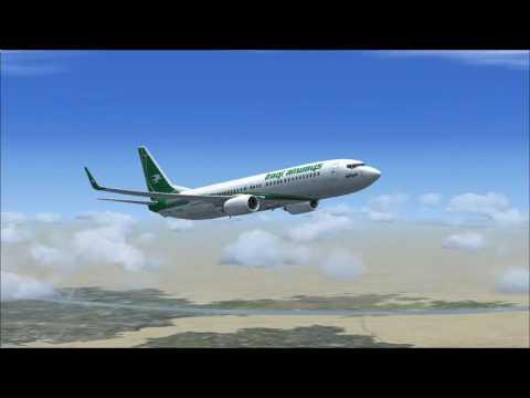 FSX Iraqi Airways PMDG B738 flight Basrah Int  ORMM-Kuwait Int  OKBK By Ammar J.  Omar