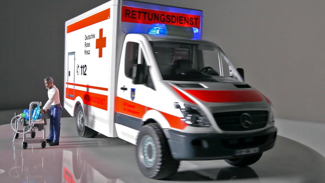 Bruder toys emergency mercedes sprinter van unique for Mercedes benz emergency number
