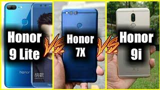 Huawei Honor 9 Lite vs Honor 7X vs Honor 9i - Another 4 Camera Phone under 10K ???
