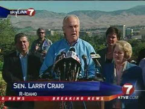 Sen. Larry Craig Resignation